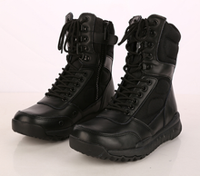 99011 genuine leather EVA rubber sole military boots