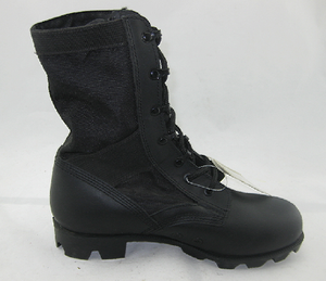 Army boots with steel toe and steel sole