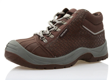 TPU toe part microfiber leather mining safety shoes