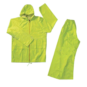 High quality green pvc rain suit rain wear waterproof