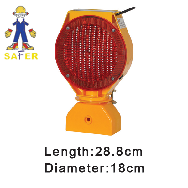 remote controlled warning light and yellow solar flashing warning light