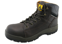 Genuine leather PU sole mining shoes safety work shoes