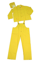 5103A yellow pvc polyester rain suit