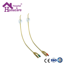 HK05d Latex Foley Catheter Silicone Coated 2-Way Tiemann