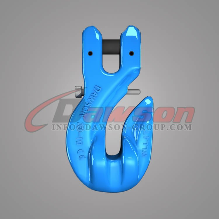 Grade 100 Special Clevis Grab Hook with Safety Pin, G100 Alloy Steel Clevis Grab Hook - China Factory, Exporter - Dawson Group Ltd.