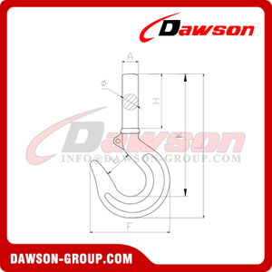 DS166 Italian Type Forged Carbon Steel Shank Hook