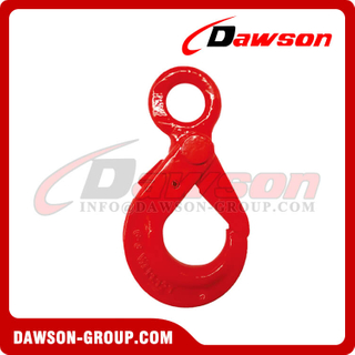 G80 / Grade 80 U.S. Type Eye Self-locking Hook for Crane Lifting Chain Slings