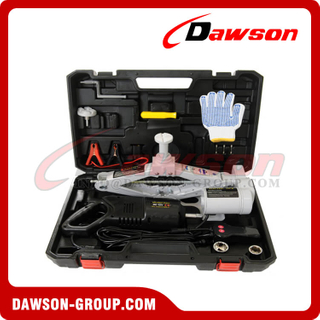 12V DC 2T or 3T 42CM Electric Scissor Jack & Electric Wrench Suit