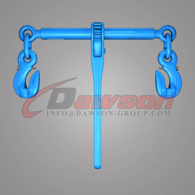 Grade 100 Ratchet Type Load Binder with Safety Hooks for Lashing - Dawson Group Ltd. - China Manufacturer