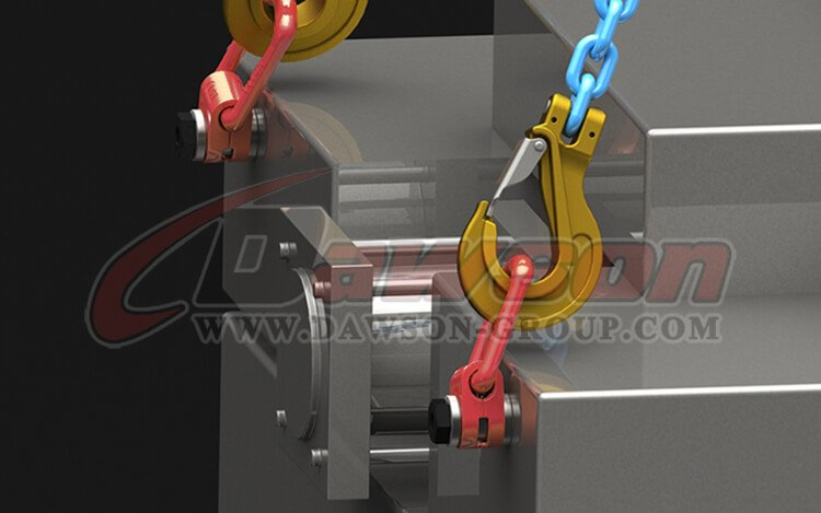 application of DS173 G80 Pivoting Lifting Screw