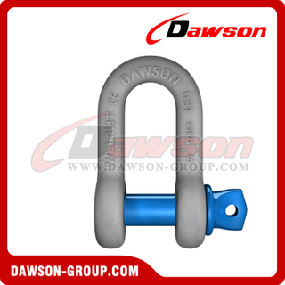 Dawson Brand Hot Dip Galvanized US Type Chain Shackle with Screw Pin, High Strength S6 Screw Pin Dee Shackle