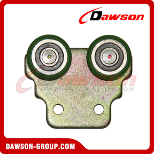 Steel Roller With Plastic Green Color for Truck Body Fittings
