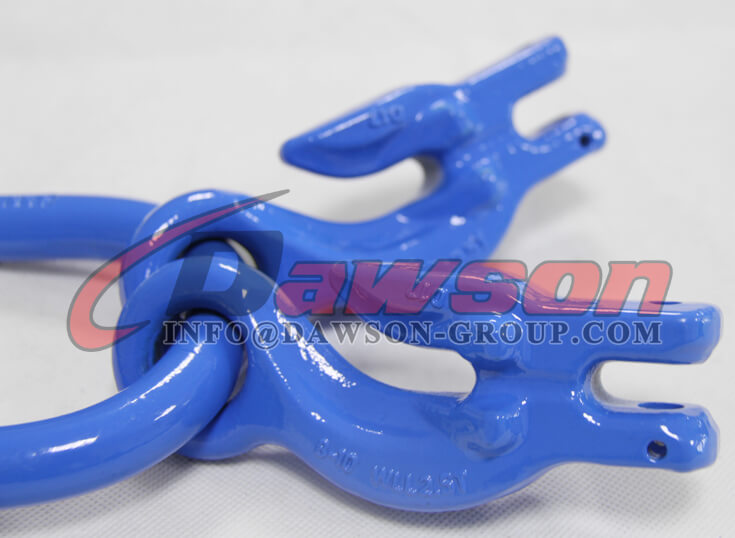 G100 Forged Master Link with 2 Eye Grab Hook with Clevis Attachment for Adjust Chain Length - Dawson Group - China Supplier