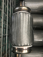 4 inch corrugated flexible exhaust pipe with four straps without inner braid