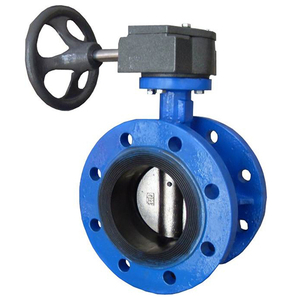 Water Double Flanged Cast Iron Concentric Butterfly Valve