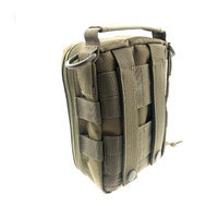 Small Waterproof Black Canvas Army Bag with Zipper