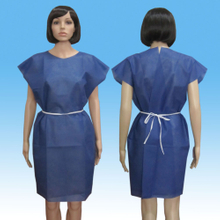 Nonwoven Patient Gown without Sleeves