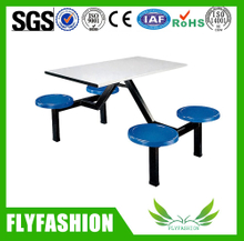 Modern school canteen dining hall tables and chairs for 4 people (DT-04)