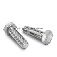 Metric 316 stainless steel fine thread hex bolts for bicycle