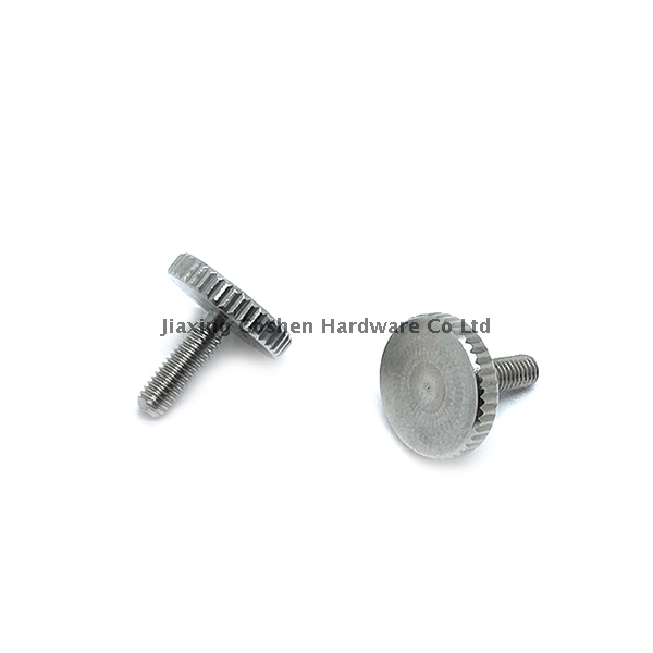 m4 stainless steel knurled head machine screws fasteners for guns