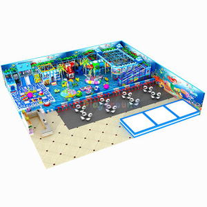 Ocean Themed Amusement Park Kids Indoor Playground with Ball Pit
