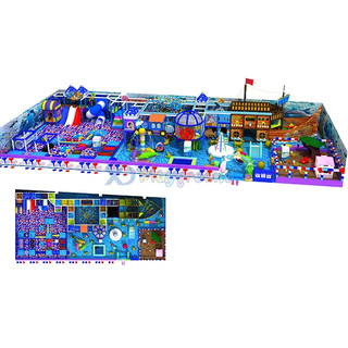 Ocean Private Ship Theme Kids Soft Amusement Park Indoor Playground with Ball Pit