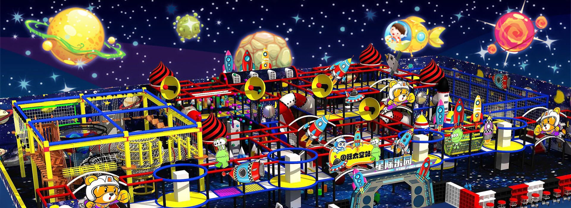 China Customized Space Theme Indoor Soft Playground