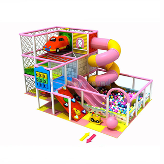 Candy Theme Small Indoor Playground Equipment with Ball Pit