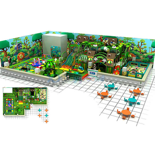 Jungle Themed Park Play Center Kids Soft Playground with Ball Pit