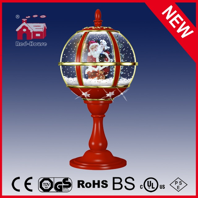 (LT30059E-RJ11) Christmas Tabletop Lamp with Top Lace LED Lights