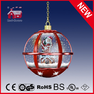 (LH30033A-RR11) All Red Christmas Decorative Light Chandelier with Top Lace