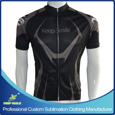 Custom Sublimation Printing Cycling Shirts with Full Zipper