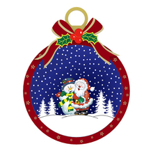 Plactic Decor Snowing Christmas Ball with Bowknot