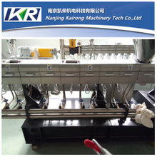nylon+long glass fiber reinforced polymer plastic compounding parallel co-rorating twin screw extruder price