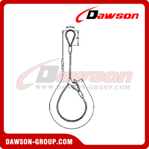 WS71-EED Flemish Eye Splice Wire Rope Slings