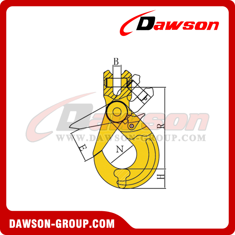 DS082 G80 EUROPEAN TYPE CLEVIS SELFLOCK HOOK DAWSON-GROUP LTD. - CHINA MANUFACTURER