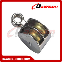 Die Cast Zinc Double Wheel Pulley with Fixed Eye