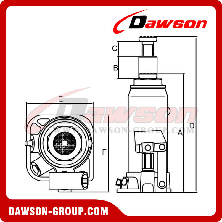 Bottle Jacks American Series DS910006 100 Ton-dawson group