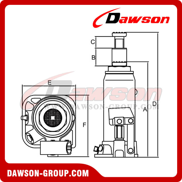Bottle Jacks European series DST90304D 3 Ton-dawson group