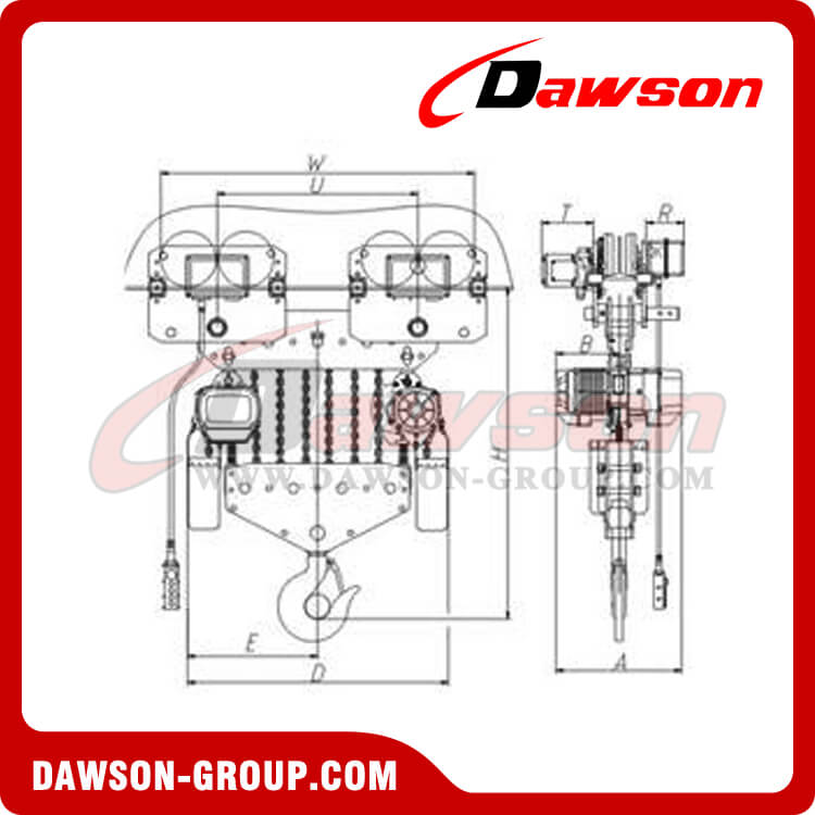 Electric-Chain-Hoist-20-25ton-China Dawson Group Ltd. - China Manufacturer, Supplier, Factory, Exporter