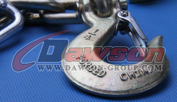 G70 Trailer Safety Chains Assembly with slip clevis hook latch on EACH end - China Factory