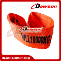 WLL 10 Ton Polyester Webbing Slings - Lifting Slings