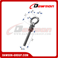 Stainless Steel JIS Type Welded Eye Bolt with Washer and Nut