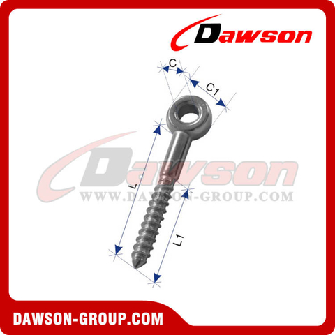 Stainless Steel Eye Bolt with Wooden Screw