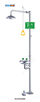 Foot Treadle Stainless Steel Emergency Shower & Eye Wash (WJH0358B)