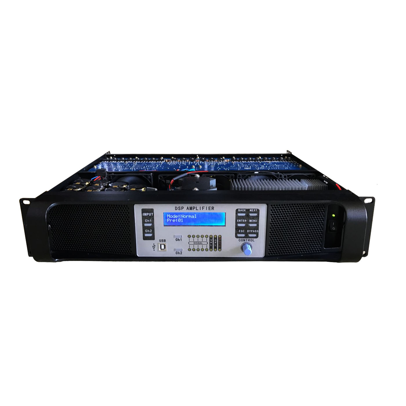 DSP-14K 2 Channel Digital Professional Amplifier dengan Ethernet