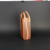 Wine Box Manufacturer Brown PU leathe wine pouch