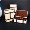 Wine Box Manufacturer PU leather luxury wooden wine box
