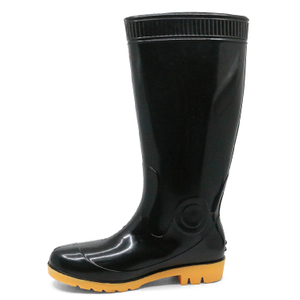Cheap Anti Slip Oil Acid Alkali Resistant Non Safety Glitter Pvc Rain Boots for Work
