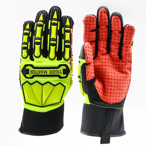 TPR Impact Resistant Oil & Gas Industry Mechanic Gloves